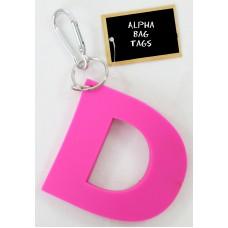 D Pink Alpha Bag Tag