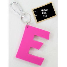 E Pink Alpha Bag Tag