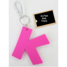 K Pink Alpha Bag Tag