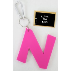 N Pink Alpha Bag Tag