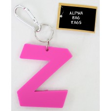 Z Pink Alpha Bag Tag
