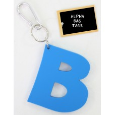 B Blue Alpha Bag Tag