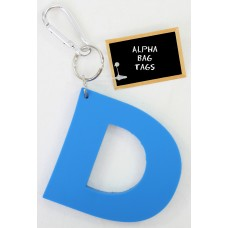 D Blue Alpha Bag Tag