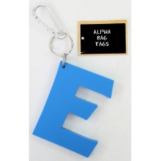 E Blue Alpha Bag Tag