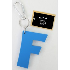 F Blue Alpha Bag Tag