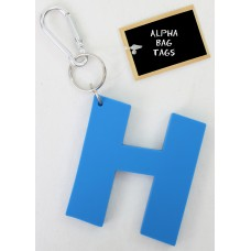 H Blue Alpha Bag Tag