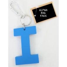 I Blue Alpha Bag Tag