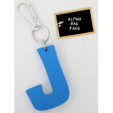 J Blue Alpha Bag Tag