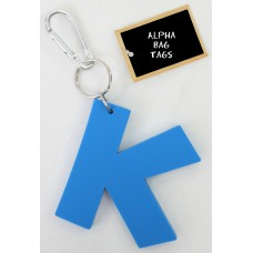 K Blue Alpha Bag Tag