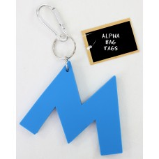 M Blue Alpha Bag Tag