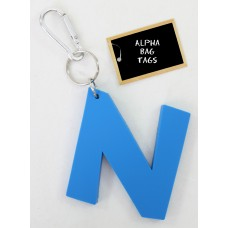 N Blue Alpha Bag Tag