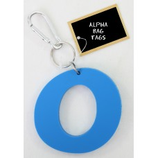 O Blue Alpha Bag Tag