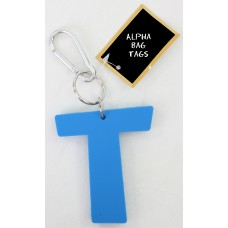 T Blue Alpha Bag Tag