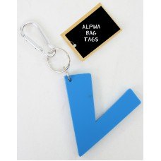 V Blue Alpha Bag Tag