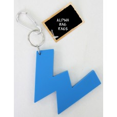 W Blue Alpha Bag Tag