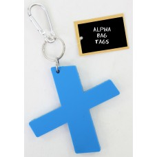 X Blue Alpha Bag Tag