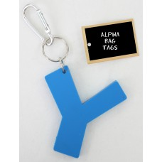 Y Blue Alpha Bag Tag