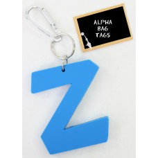Z Blue Alpha Bag Tag
